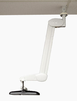 Ceiling Mount with Arm & TV-White
