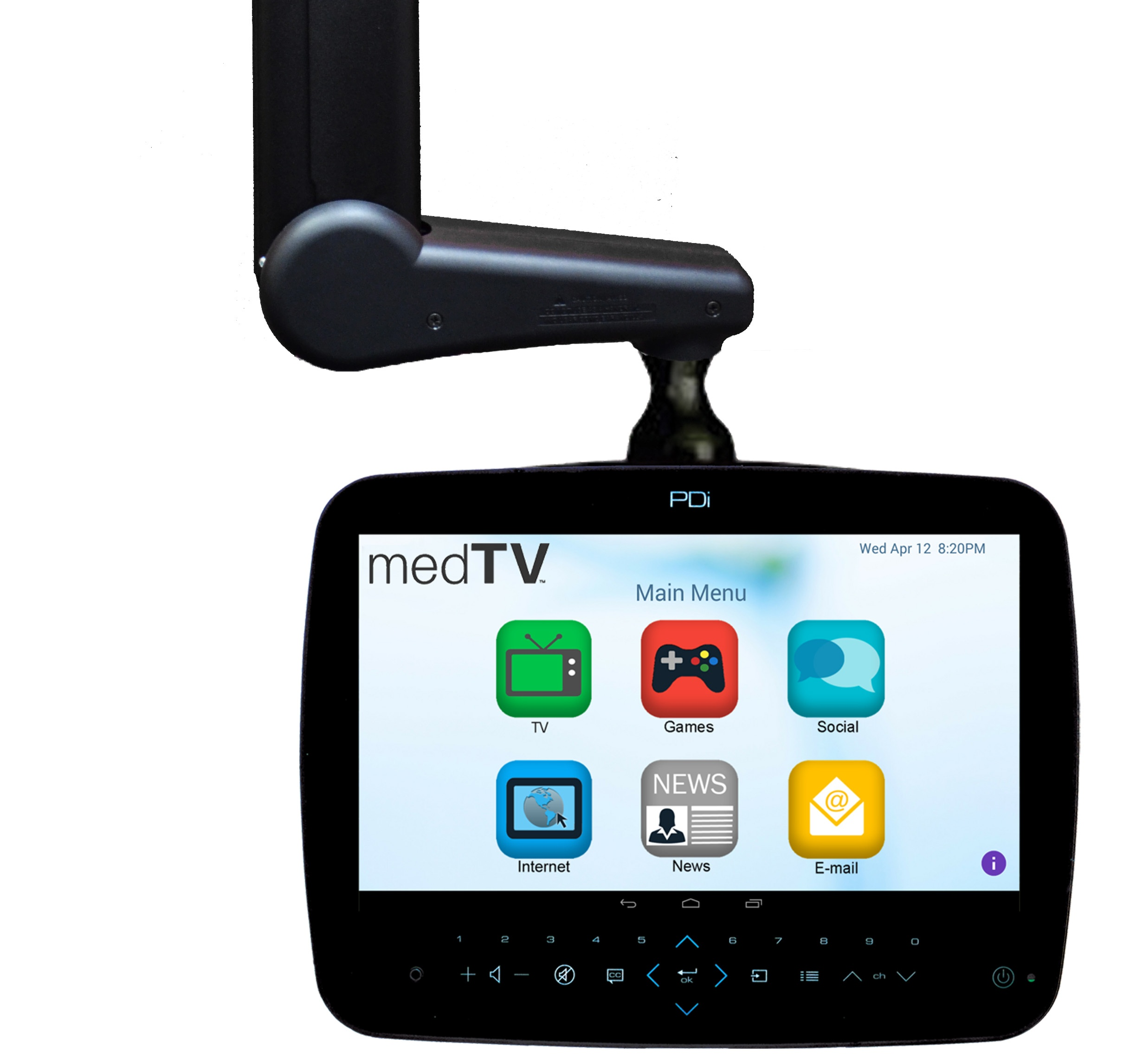 14 inch medTAB touchscreen interactive patient system
