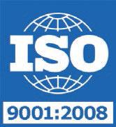 ISO 9001:2008 Certificate Issued September 29, 2011