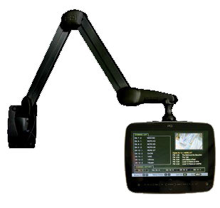 PDis 1st LED backlit arm-mounted 14in widescreen HDTV.