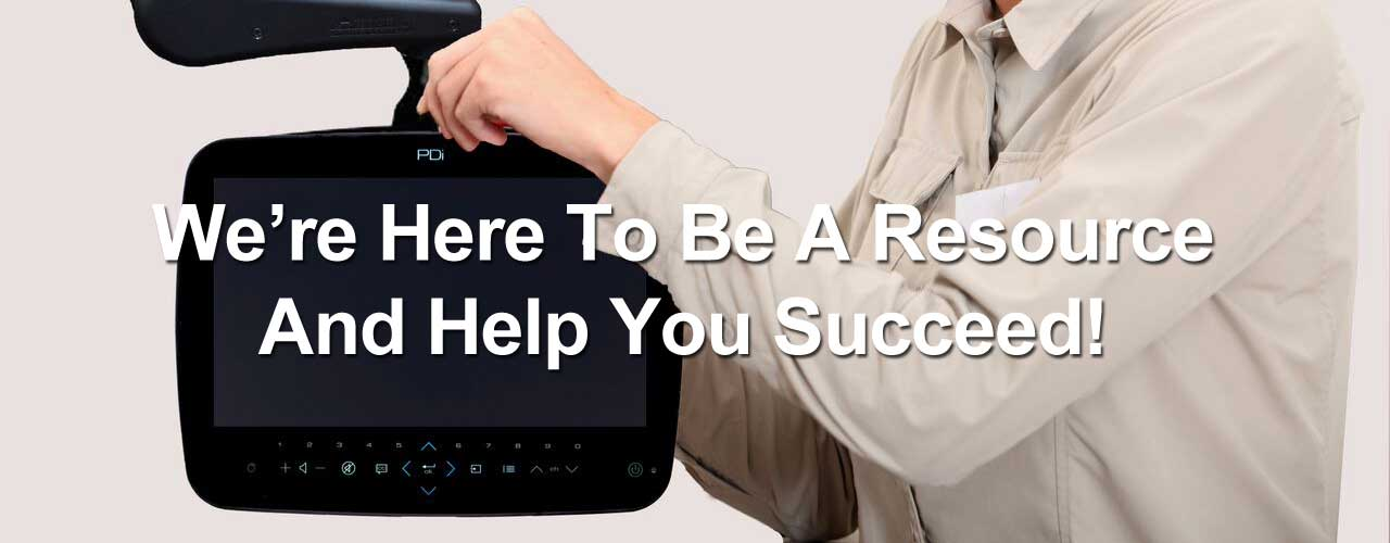We're here to be your resource and help you succeed.
